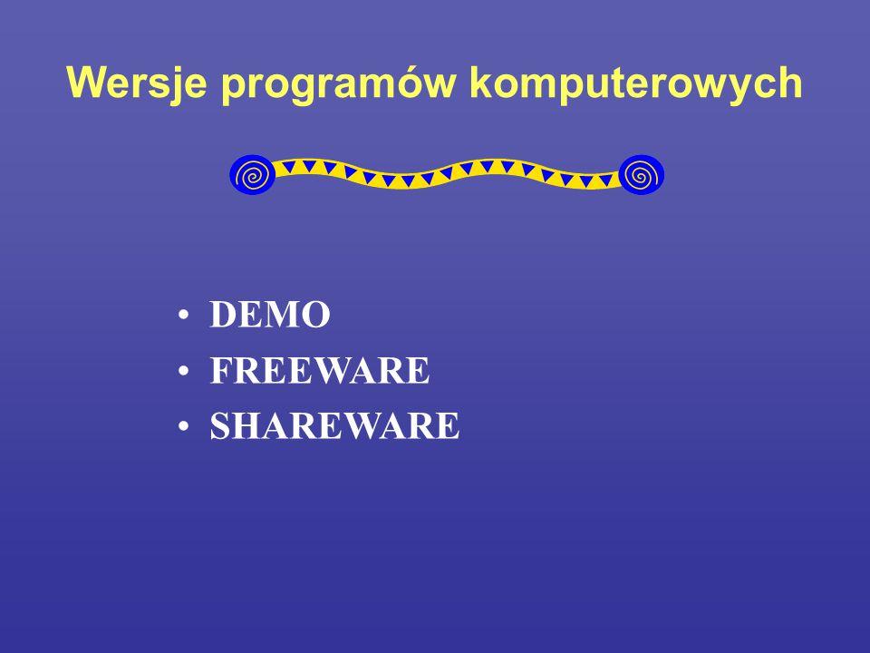 Wersje programów komputerowych