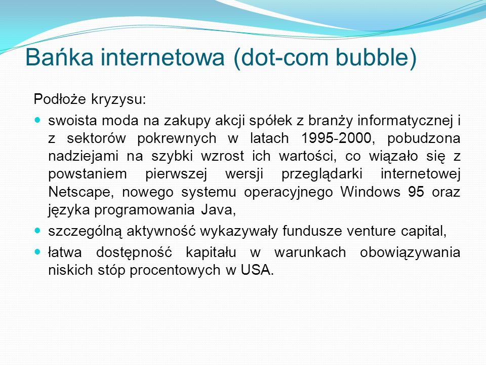 Bańka internetowa (dot-com bubble)