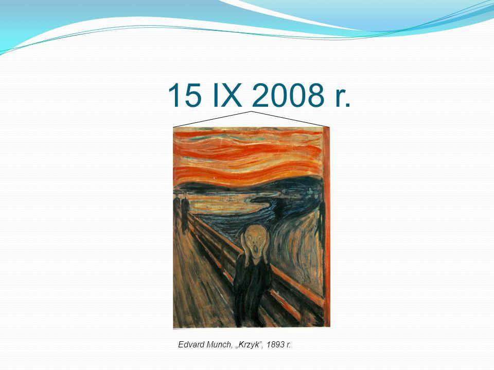 """15 IX 2008 r. Edvard Munch, """"Krzyk , 1893 r."""
