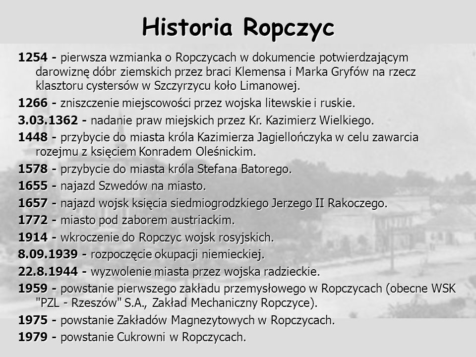 Historia Ropczyc