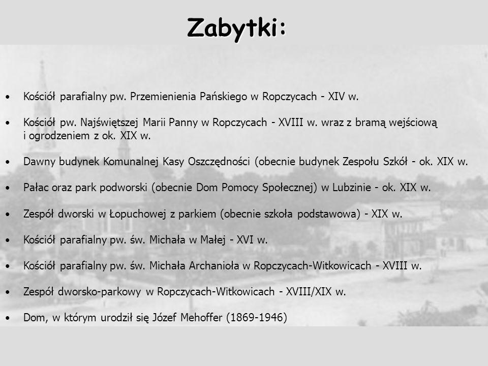 Zabytki: Kościół parafialny pw. Przemienienia Pańskiego w Ropczycach - XIV w.