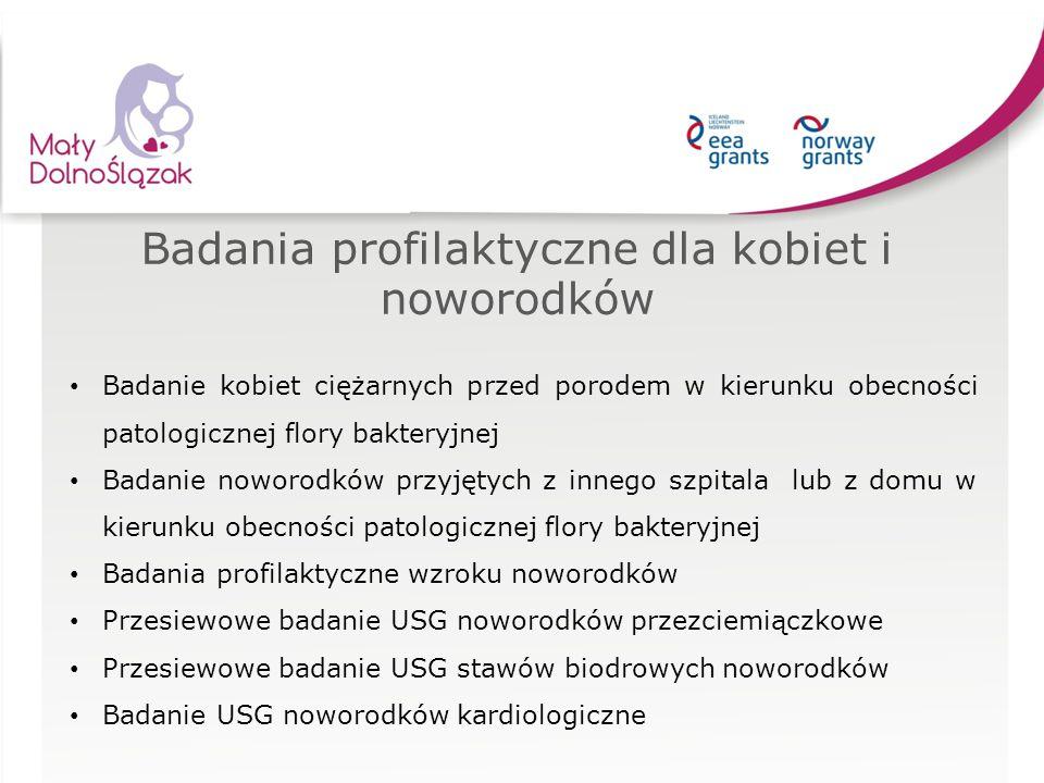Badania profilaktyczne dla kobiet i noworodków