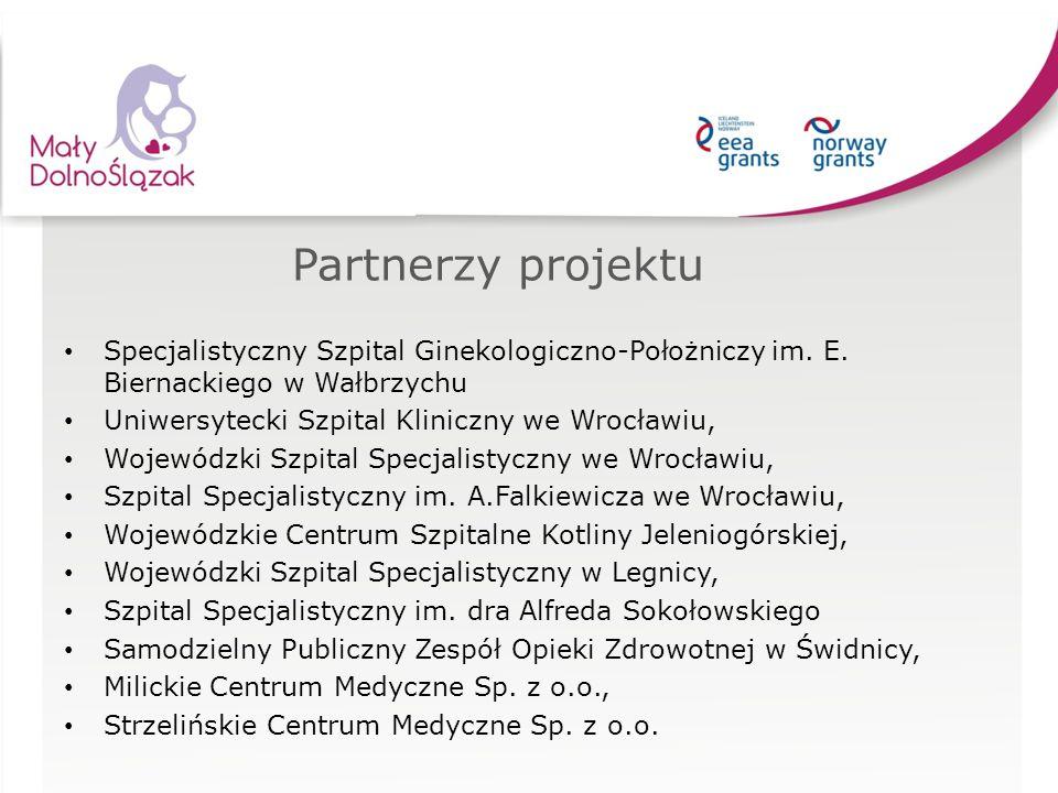 Partnerzy projektu Specjalistyczny Szpital Ginekologiczno-Położniczy im. E. Biernackiego w Wałbrzychu.