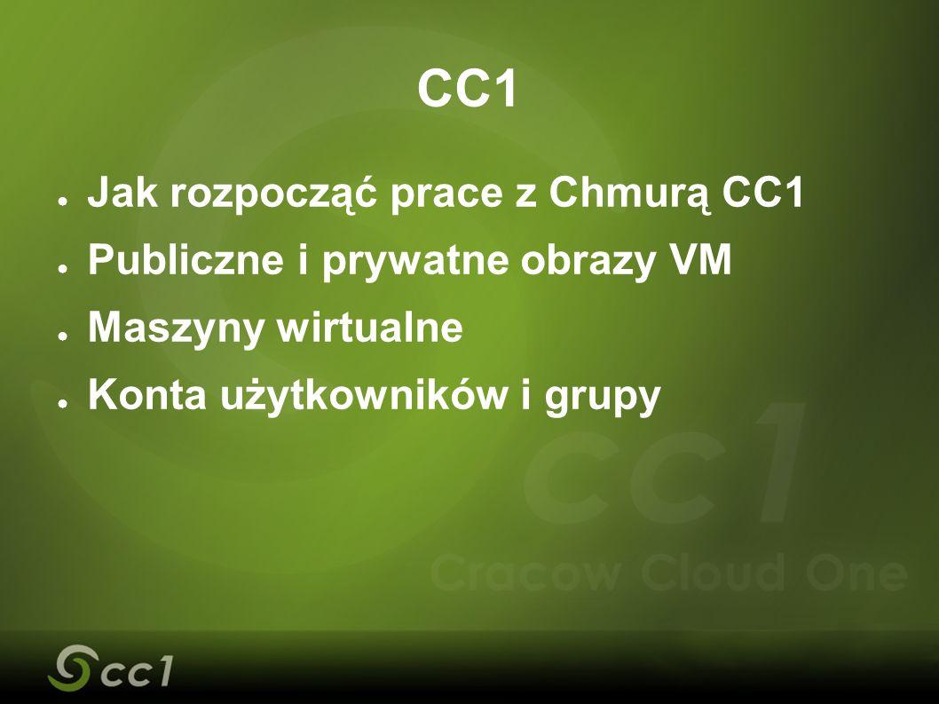 CC1 Jak rozpocząć prace z Chmurą CC1 Publiczne i prywatne obrazy VM
