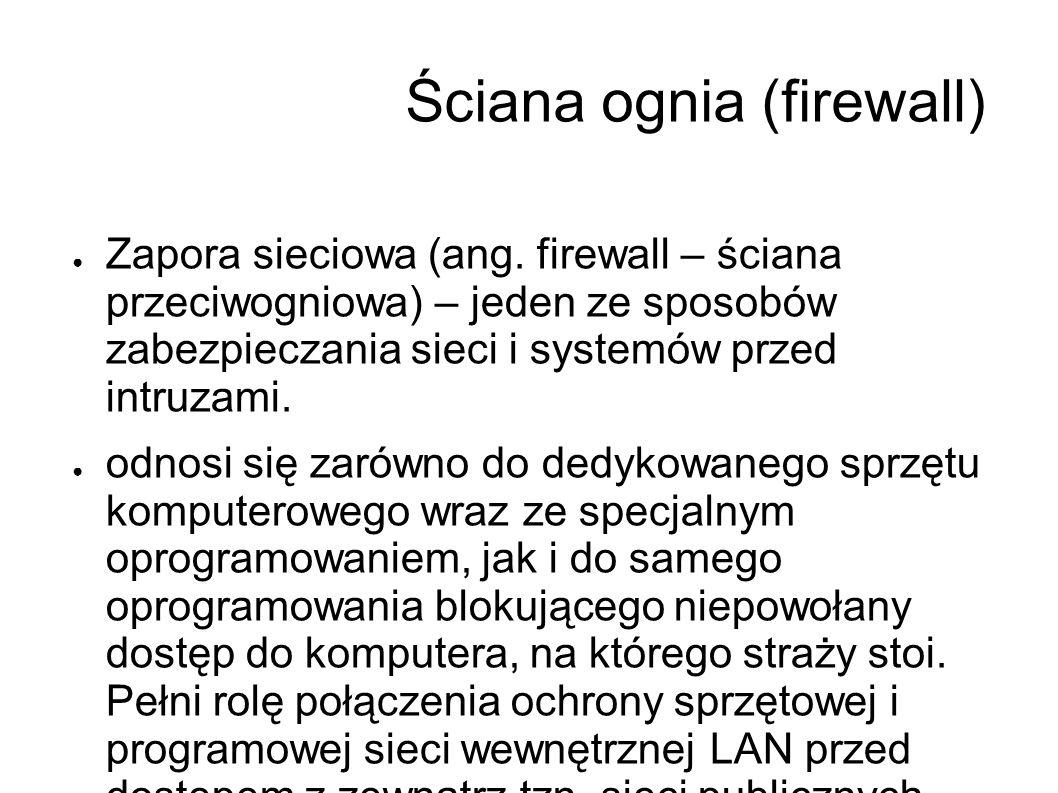 Ściana ognia (firewall)