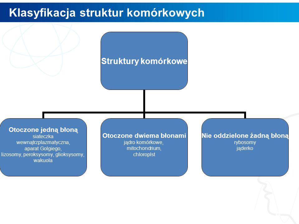 Klasyfikacja struktur komórkowych