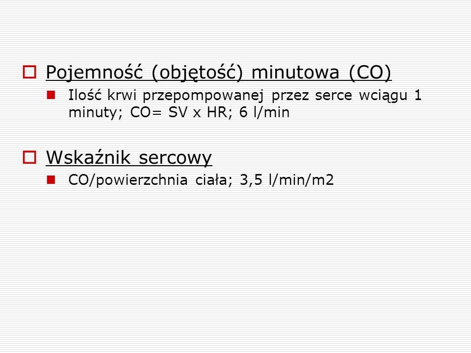 Pojemność (objętość) minutowa (CO)