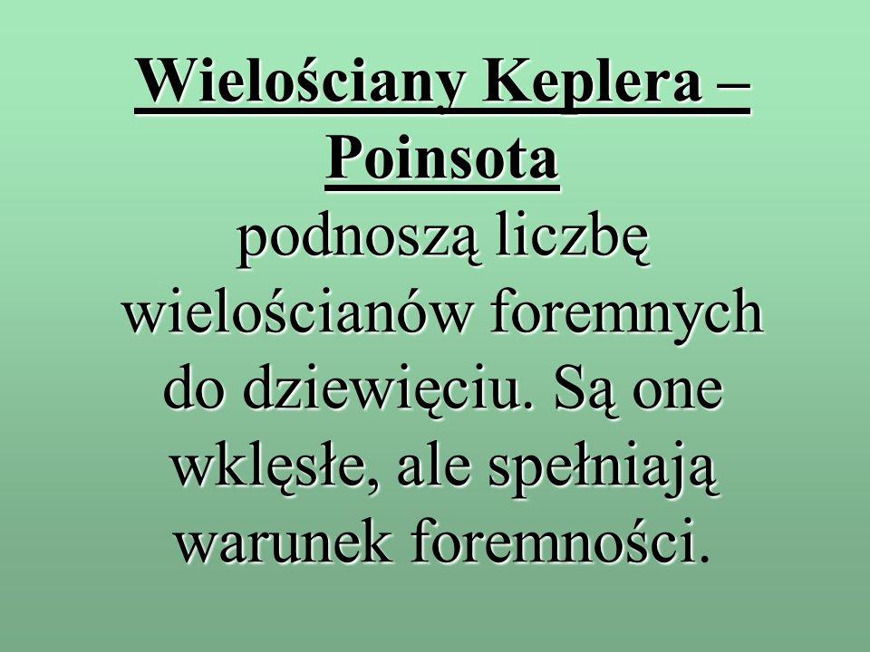 Wielościany Keplera – Poinsota podnoszą liczbę wielościanów foremnych do dziewięciu.