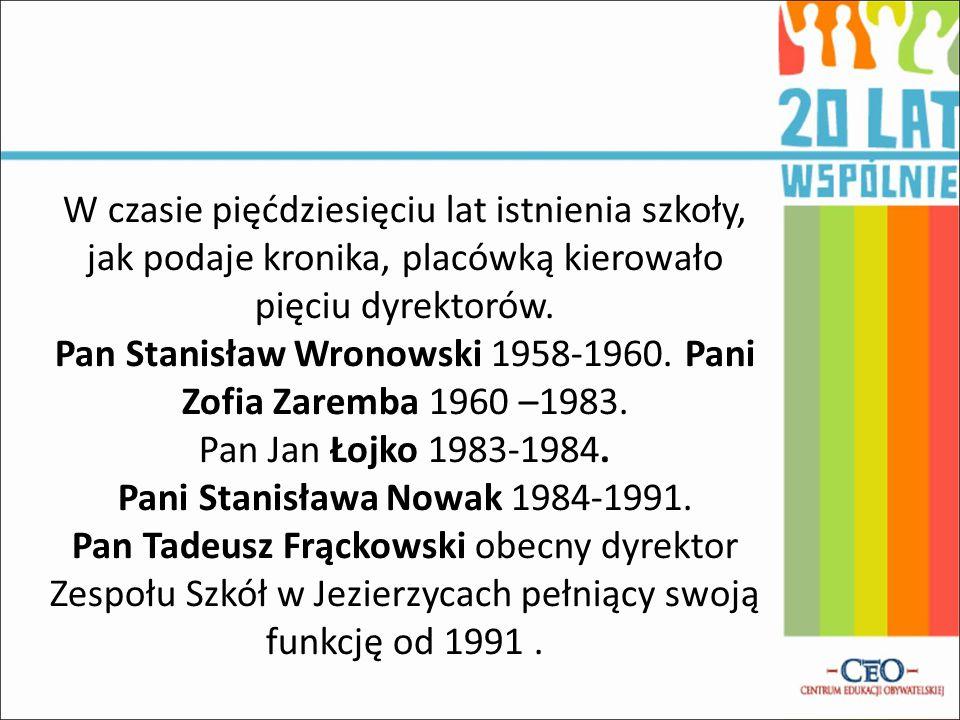 Pani Stanisława Nowak 1984-1991.