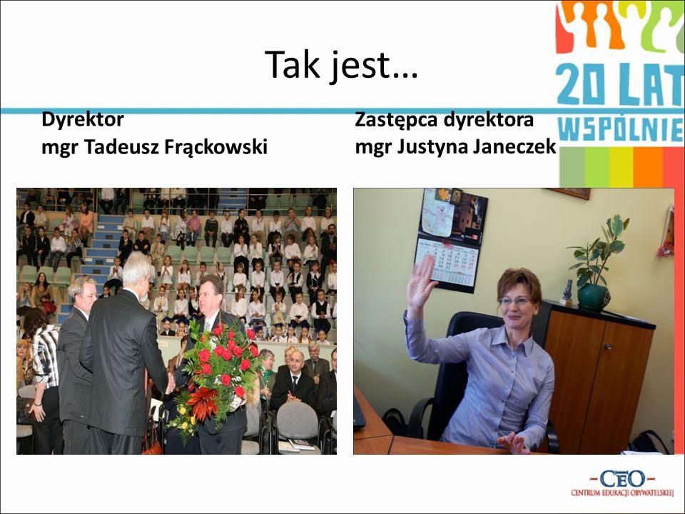Tak jest… Dyrektor mgr Tadeusz Frąckowski