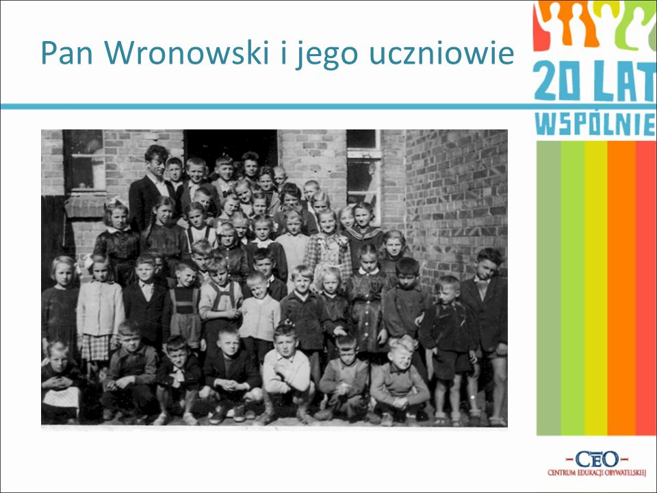 Pan Wronowski i jego uczniowie