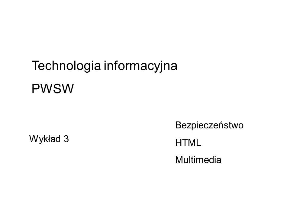 Technologia informacyjna PWSW