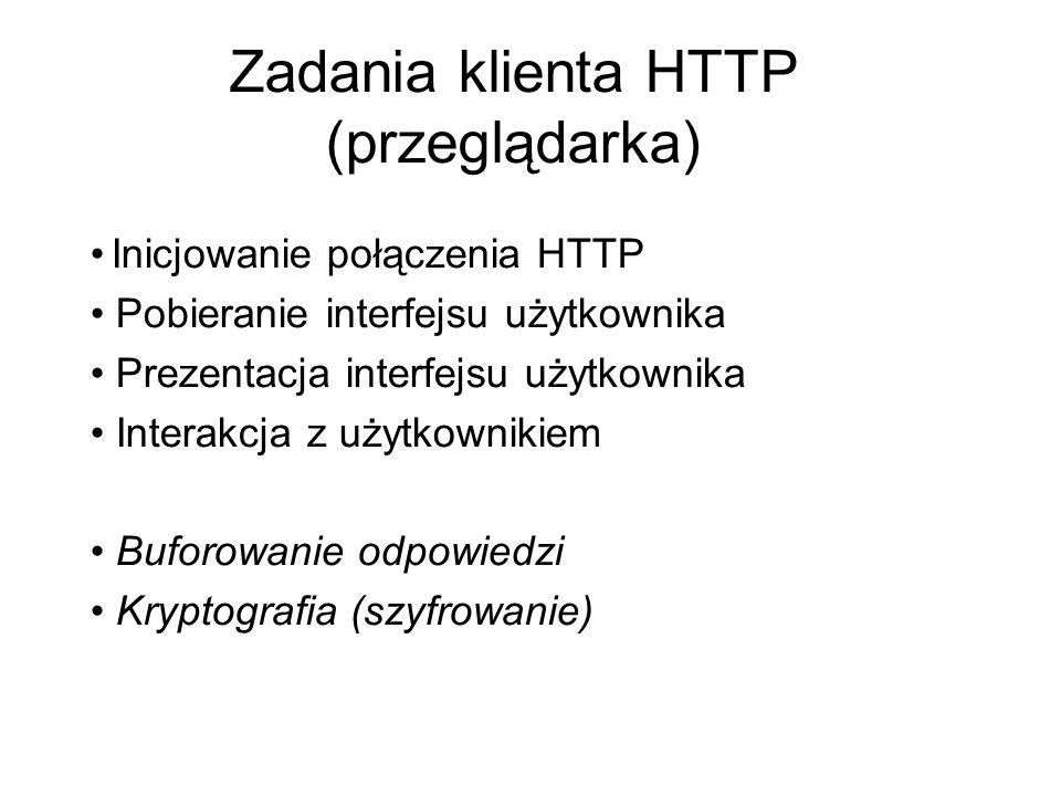 Zadania klienta HTTP (przeglądarka)