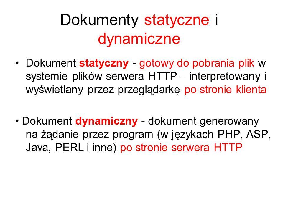 Dokumenty statyczne i dynamiczne