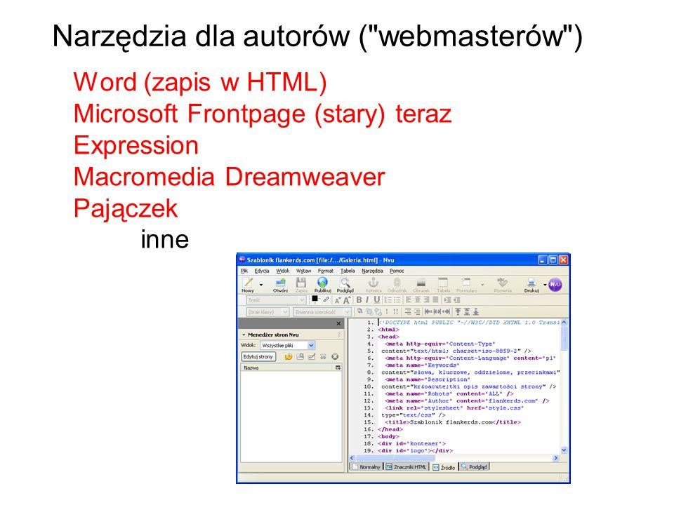Narzędzia dla autorów ( webmasterów )