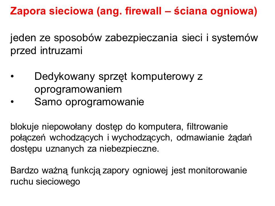 Zapora sieciowa (ang. firewall – ściana ogniowa)