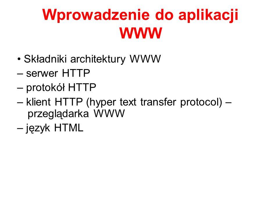Wprowadzenie do aplikacji WWW