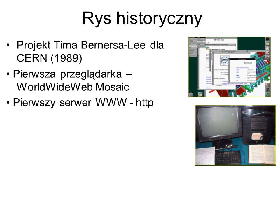 Rys historyczny Projekt Tima Bernersa-Lee dla CERN (1989)
