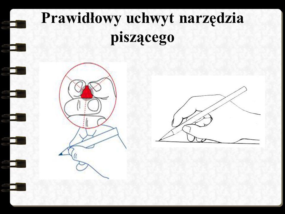 Prawidłowy uchwyt narzędzia piszącego