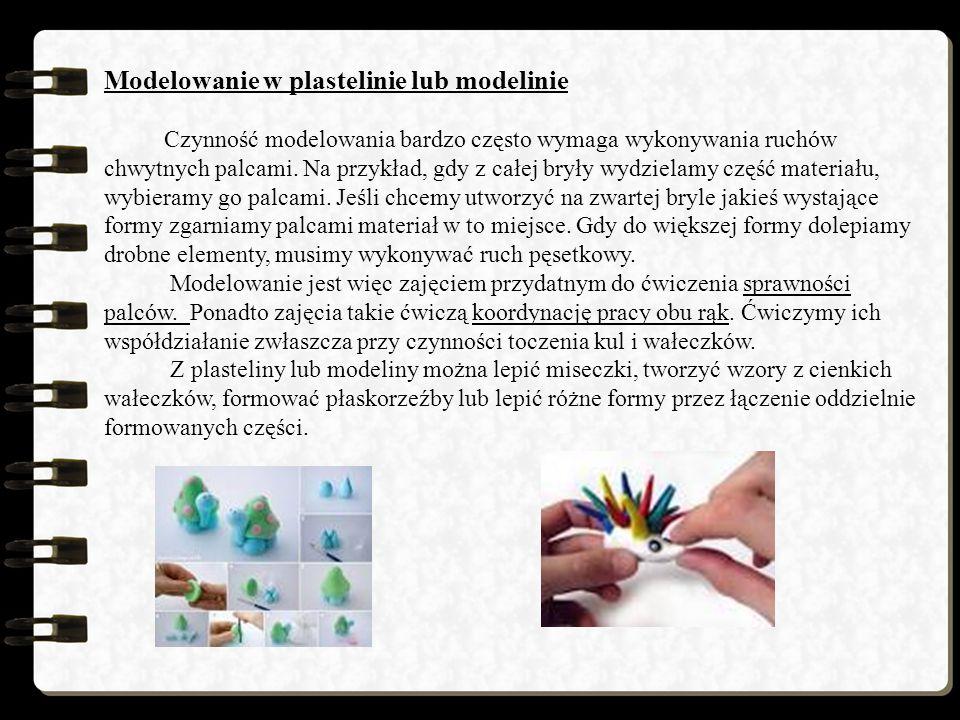 Modelowanie w plastelinie lub modelinie