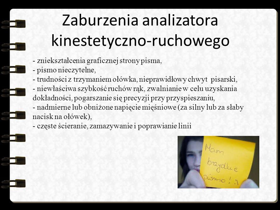 Zaburzenia analizatora kinestetyczno-ruchowego