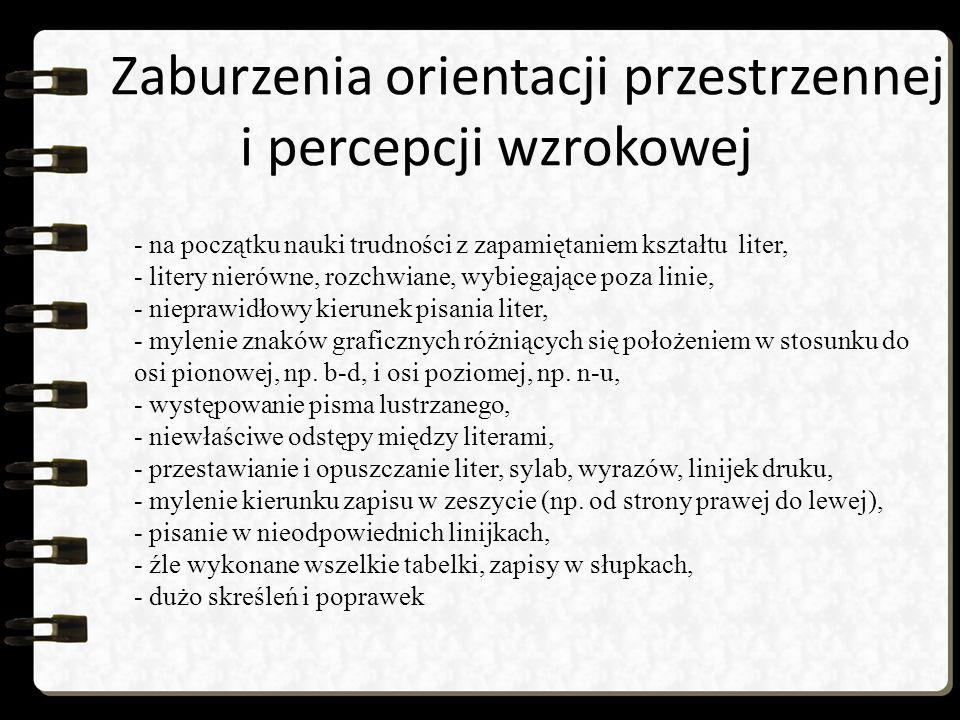 Zaburzenia orientacji przestrzennej i percepcji wzrokowej