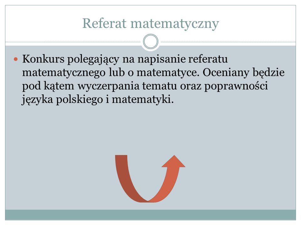 Referat matematyczny