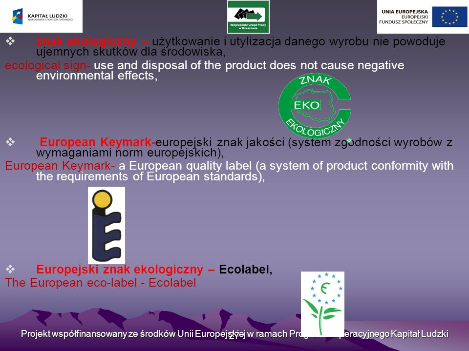 Europejski znak ekologiczny – Ecolabel,