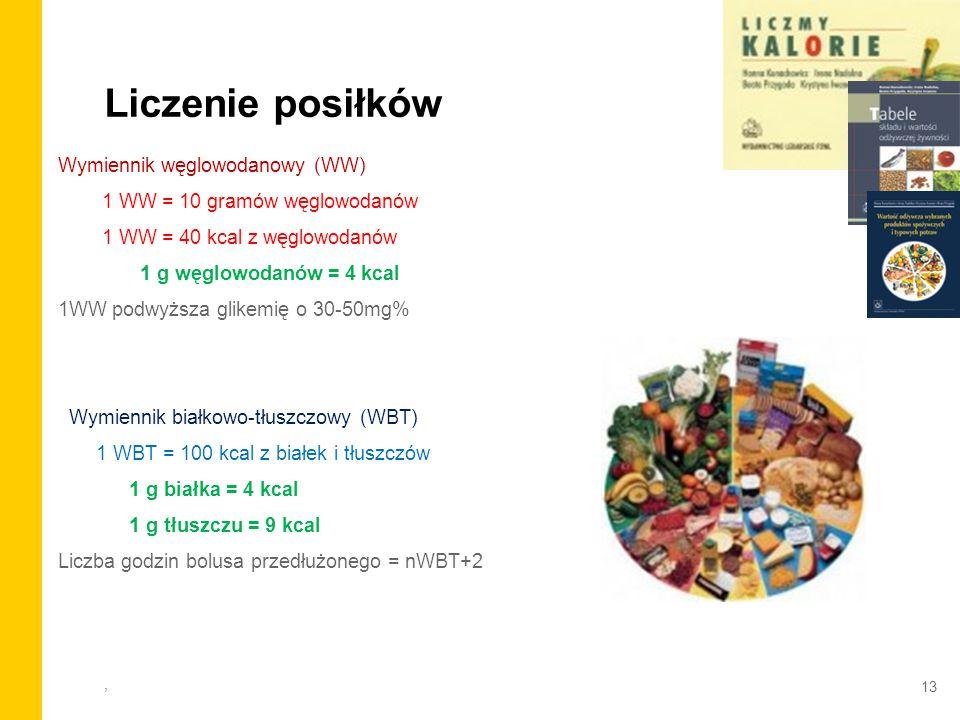 Liczenie posiłków Wymiennik węglowodanowy (WW)