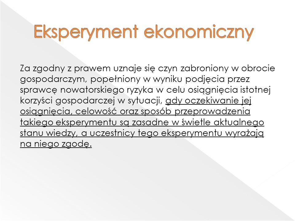 Eksperyment ekonomiczny