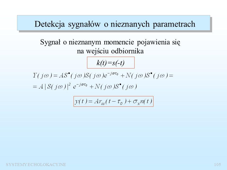 Detekcja sygnałów o nieznanych parametrach