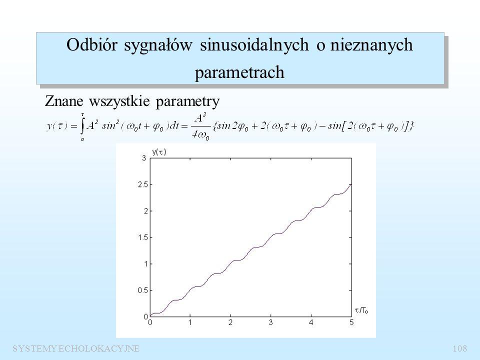 Odbiór sygnałów sinusoidalnych o nieznanych parametrach