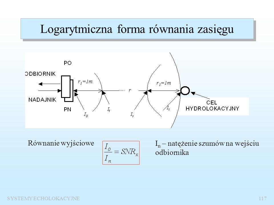 Logarytmiczna forma równania zasięgu