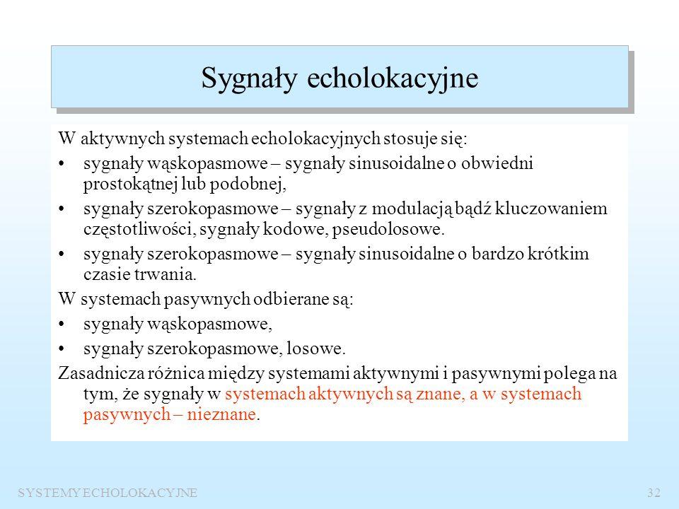 Sygnały echolokacyjne