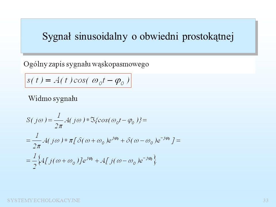Sygnał sinusoidalny o obwiedni prostokątnej