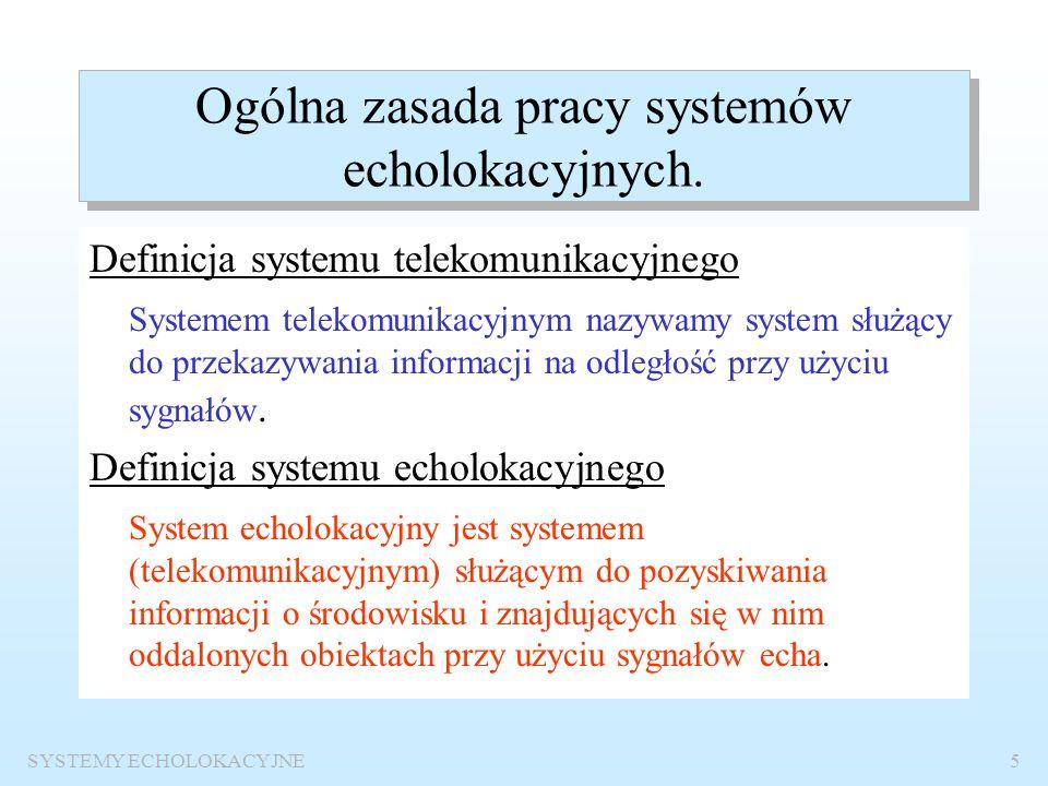 Ogólna zasada pracy systemów echolokacyjnych.