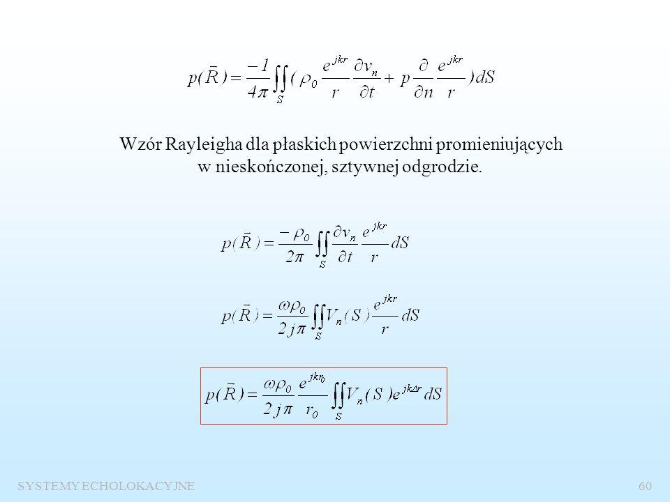 Wzór Rayleigha dla płaskich powierzchni promieniujących