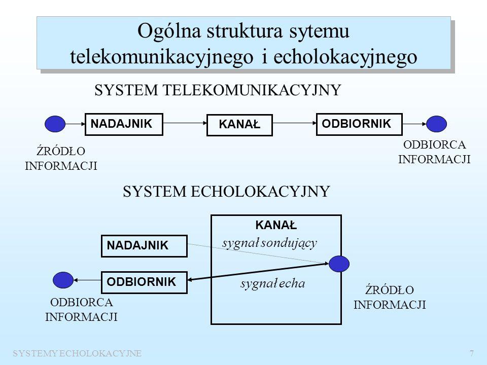 Ogólna struktura sytemu telekomunikacyjnego i echolokacyjnego