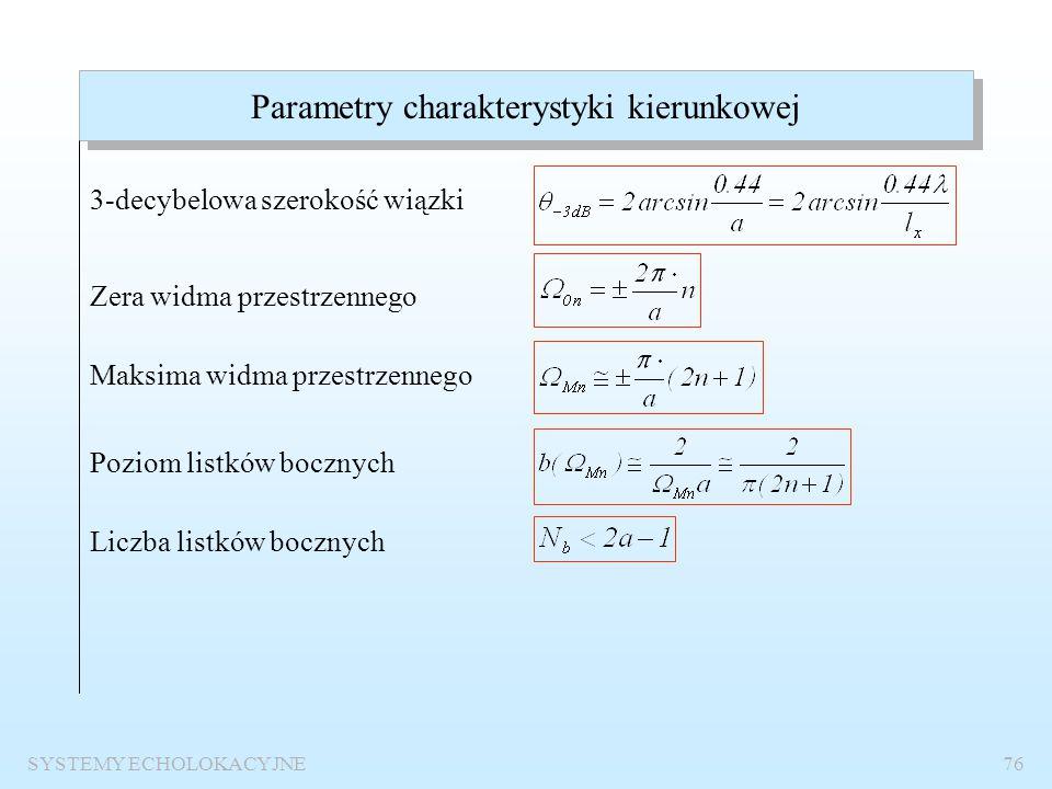 Parametry charakterystyki kierunkowej