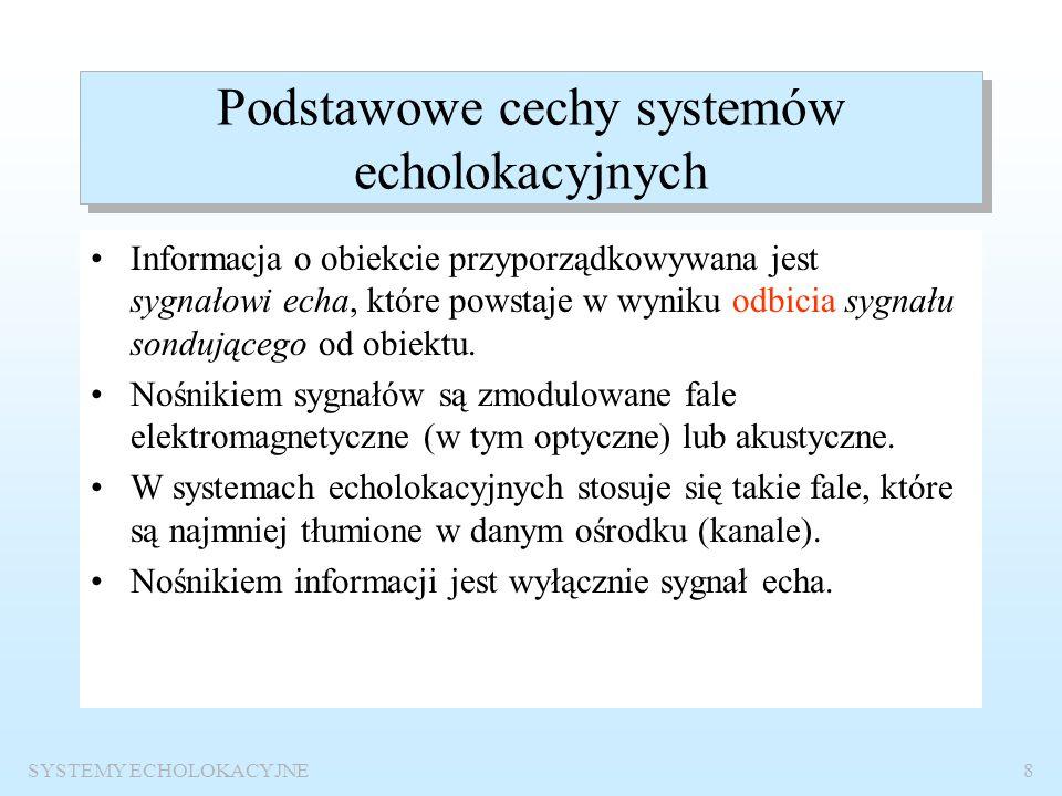 Podstawowe cechy systemów echolokacyjnych