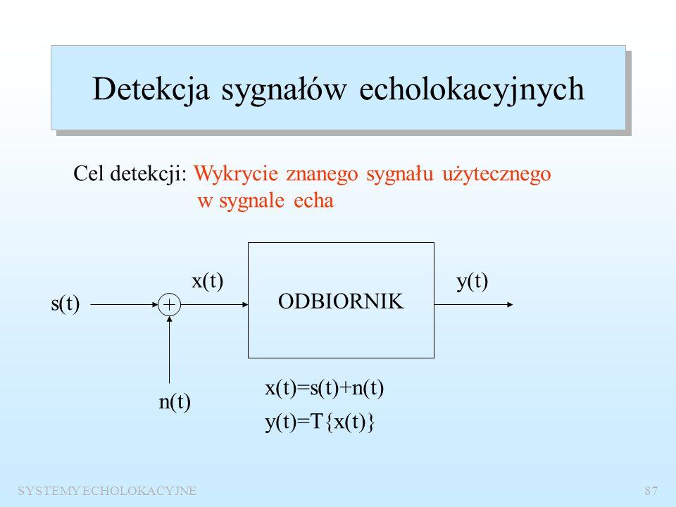 Detekcja sygnałów echolokacyjnych
