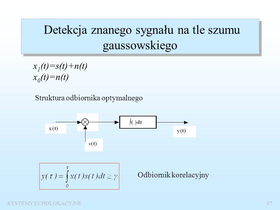 Detekcja znanego sygnału na tle szumu gaussowskiego