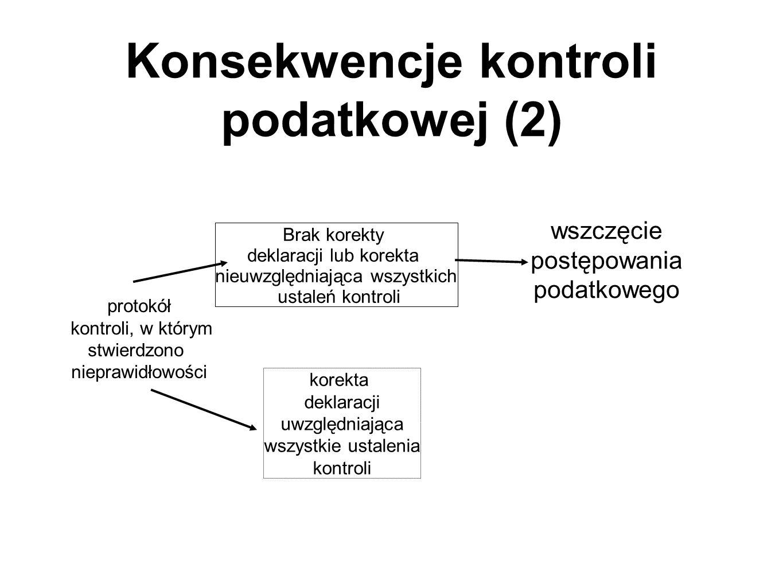 Konsekwencje kontroli podatkowej (2)