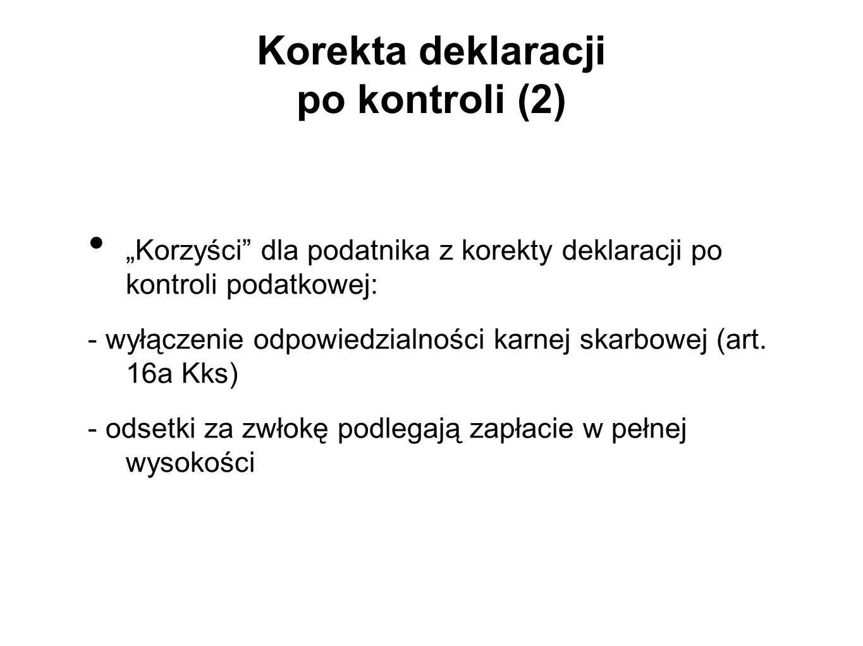 Korekta deklaracji po kontroli (2)