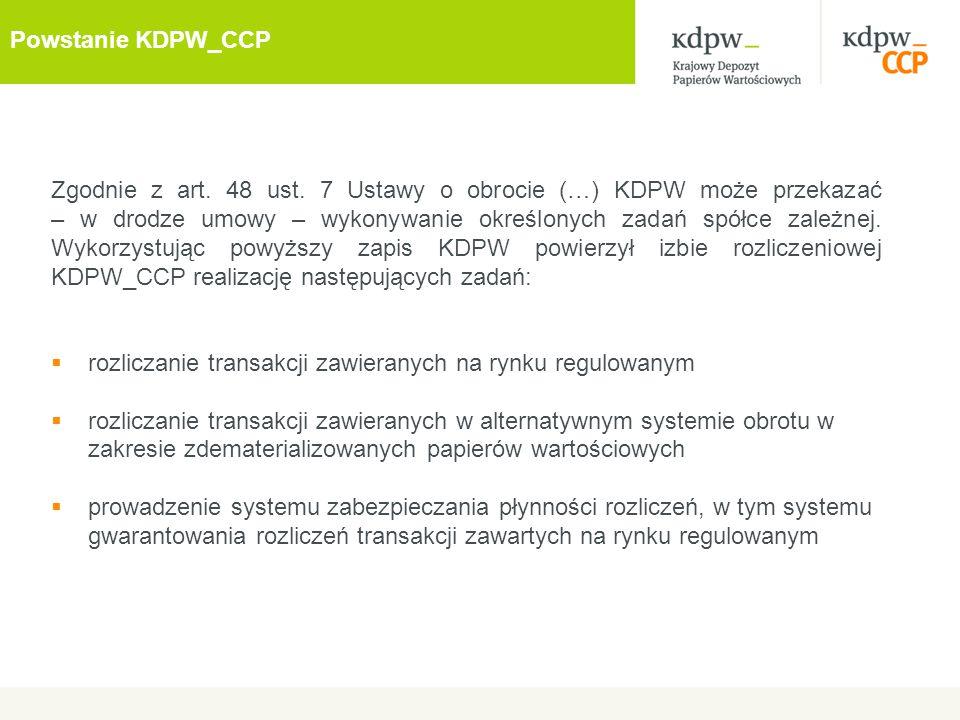 Powstanie KDPW_CCP
