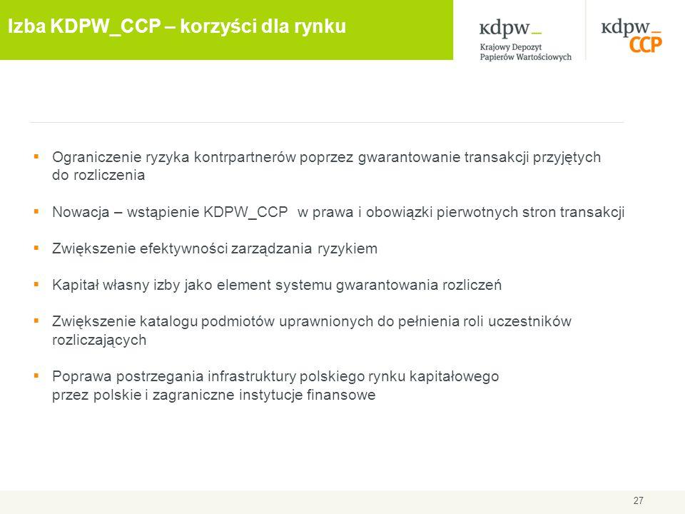 Izba KDPW_CCP – korzyści dla rynku