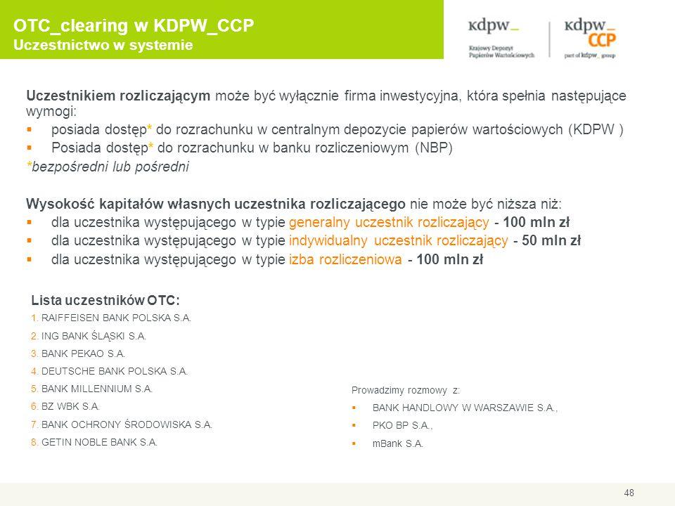 OTC_clearing w KDPW_CCP Uczestnictwo w systemie
