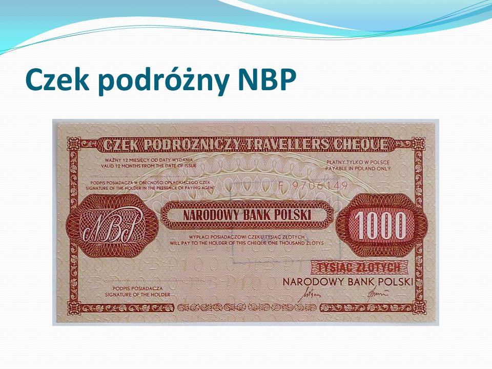 Czek podróżny NBP