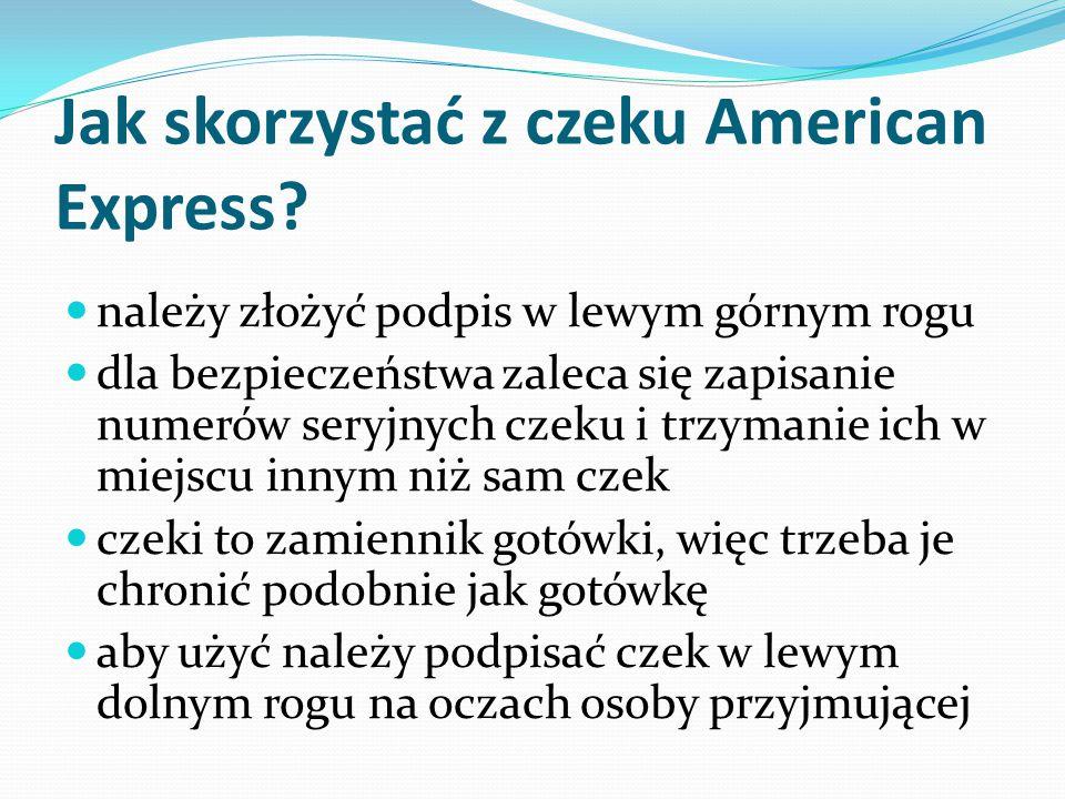 Jak skorzystać z czeku American Express