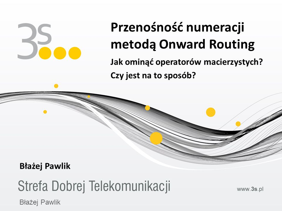 Przenośność numeracji metodą Onward Routing
